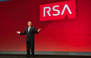 RSA representative speaking at conference