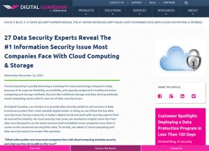 Pinnacle's Charles Moore reveals #1 issue most companies face with cloud computing to Digital Guardian