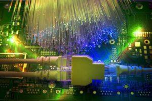 plug inside of data center