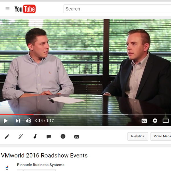 Video of William Maker and Colby Dick talking VMworld 2016