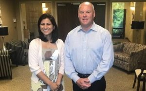 CEO of Pinnacle Rob Anderson and Priyanka Chauhan