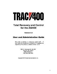 TRAC400-Manual - Pinnacle