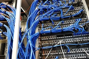 Server Room with Networking cables